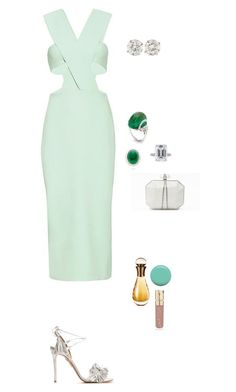 Untitled #1546 by sid9087 on Polyvore featuring polyvore fashion style Cushnie Et Ochs Aquazzura Marco Bicego Smith & Cult Christian Dior Jin Soon Marchesa women's clothing women's fashion women female woman misses juniors