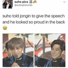 Honestly i was touched. Baby jongin isn't big on giving speeches but junma sehun n chanyeol pushed him Infront if the mike n he deserved to give that speech for the vest male dance award ❤❤❤