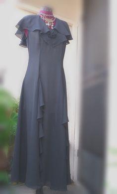 Eco Fashion/ Shabby Chic Funky Black Sheer Chiffon by KheGreen, $49.99