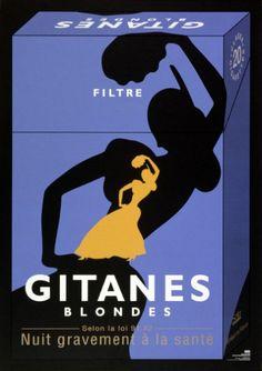 vintage Gitanes cigarettes advertisement