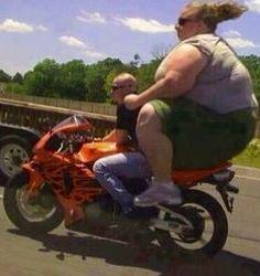 Fat man crushes girl