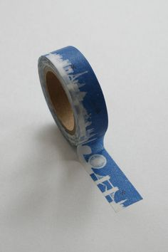 Washi Tape  15mm  Skyline on Blue  Deco Paper Tape by InTheClear, $3.95