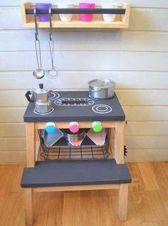 ou transformé en cuisinière pour bébé                              …