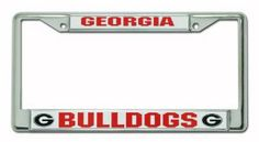 NCAA Georgia Bulldogs Chrome License Plate Frame by Rico. $12.30. Easy to mount around just about any license plate. Zinc metal frame resistant to the elements. Chrome license plate frame with team name and logo. NCAA Georgia Bulldogs Chrome Frame License Plate Covers, License Plate Frames, Kansas State Wildcats, Ohio State Buckeyes, Nittany Lion, Team Names, Georgia Bulldogs, Chrome Plating, Outdoors