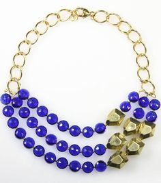 #DIY Purple and Gold Statement Necklace from Jo-Ann Fabric and Craft Stores