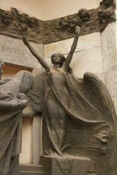 ... <b>Cemetery</b> <b>Angel</b>, <b>Cemetery</b> Monuments, Milan Italy, Cimitero Monuments