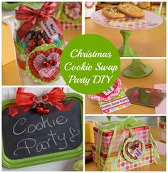 Christmas Cookie Swap Party idea and DIY projects - click thru for the full tutorials