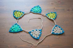Crochet Garland | Guirnalda de ganchillo Häkeln Angeles Antolin Hoyos