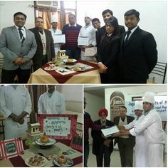 School of Hospitality students won the 2nd position in JIMS Master Chef - Eggless Dessert competition. Additionally the Galgotias was judged for Best overall presentation.Certificates & prizes being given to SOH team by Head Chef & owner of Flaming Chilli Pepper. #galgotiauiversity