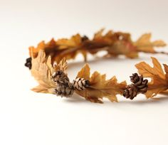 Autumn wedding crown Woodland fall wedding Bridal by whichgoose