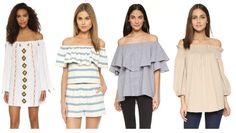 A Polished Palate: Off-The-Shoulder Tops and Dresses
