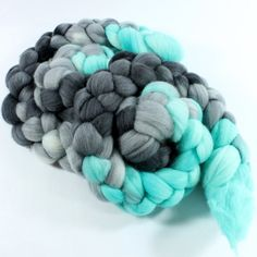 Merino Wool Roving - Hand Painted - Hand Dyed for Spinning or Felting - 4oz - Robots by SpunRightRound