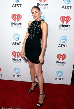 Olivia Culpo wears LBD to the iHeart Radio Country Music Festival #dailymail