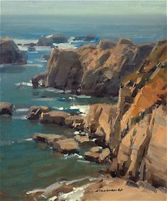 Christensen Studio, Archive-Studies - the - the perfect place to and - experience with Watercolor Landscape, Abstract Landscape, Seascape Paintings, Landscape Paintings, California Coast, Am Meer, English Countryside, Art Oil, Costa
