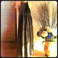 PERFECT FOR SPRING GREY/BLACK MAXI DRESS SIZE XS Stunning maxi double layered dress. From express size xsmall. It's really small.! So please ask for measurements. Has side zipper that wouldn't close on my mannequin. It is perfect for that petite gal who wants a flowing dress. The color of intense black he faded a bit and now looks like a charcoal grey almost other than  that the dress is in excellent condition with no stains or rips Express Dresses Maxi