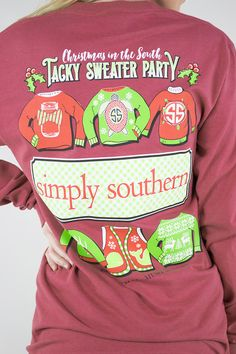 Christmas In The South Long Sleeve Tee Simply Southern Simply Southern T Shirts Southern