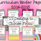 **Updated for the 2014-2015 School Year** This download includes both the printable and editable curriculum binder pages to help jumpstart your way...