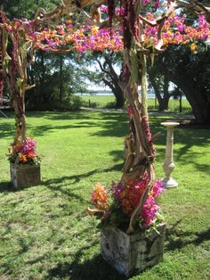 chuppah different color flowers