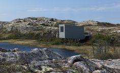 Inusuales construcciones y diseño de estudios para que los artistas visiten y trabajen en la Isla de Fogo en Canadá...