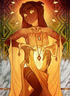 Ava Ire  official art for the webcomic Ava's Demon