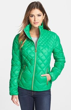 MICHAEL Michael Kors Diamond Quilted Down Jacket (Online Only) available at #Nordstrom