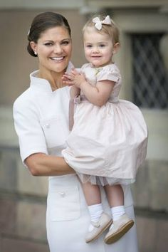 Princess Victoria and her cute little girl princess Estelle.
