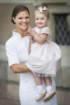 Princess Victoria and her cute little girl princess Estelle.