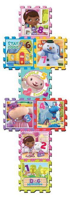 Amazon.com: What Kids Want Doc McStuffins Hopscotch, 8-Piece: Toys & Games