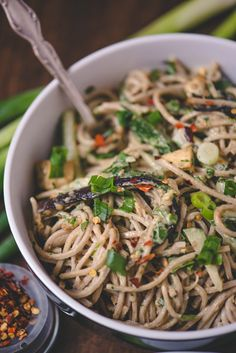 Sesame Soba Noodles with Cucumbers and Roasted Eggplant | Food Fitness Fresh Air
