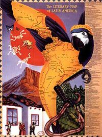 Literary Map of Latin America, 1988, Molly Maguire and Mike Cressy