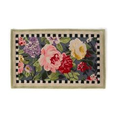 Would love this at my front door! MacKenzie-Childs Tudor Rose Rug, x Hand tufted pure wool. Decorative Accessories, Decorative Boxes, Mckenzie And Childs, Tudor Rose, Hand Tufted Rugs, Tea Roses, Hand Knotted Rugs, Rugs On Carpet, Wool Rug