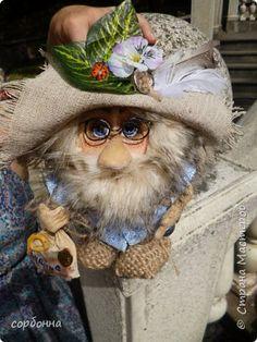 Куклы Шитьё грунтованный текстиль бабки Ежки и Домовички Ткань фото 11