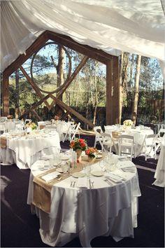 outdoor indoor reception space