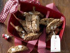 Weihnachtliche Cantucci mit kandiertem Ingwer - smarter - Kalorien: 95 Kcal | Zeit: 30 min. #christmas
