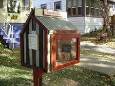 Little Free Library. Grassroots project. Take a book, return a book. http://www.littlefreelibrary.org