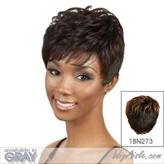 H LICA Motown Tress  Human Hair Full Wig in OFF BLACK -- Click on the image for additional details.(This is an Amazon affiliate link)