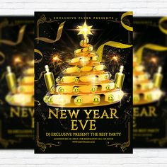 New Year Eve - Premium Flyer Template + Facebook Cover http://exclusiveflyer.net/product/new-year-eve-premium-flyer-template-facebook-cover/