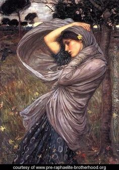 Boreas  1903 - John William Waterhouse - www.pre-raphaelite-brotherhood.org