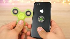 Someone drilled a hole through an iPhone to make a fidget spinner because... the internet