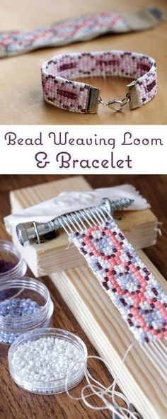 How to make a really simple bead weaving loom out of household scraps and wood pieces. Then learn the process of making a super unique beaded bracelet