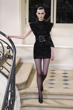 Saint Laurent RTW Fall 2016 #PFW [Photo: Giovanni Giannoni]