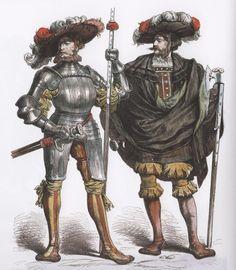 "cuirassier: ""German Landsknechts """
