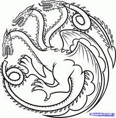 how to draw house targaryen, house targaryen dragon step 12 targaryen tattoo Dessin Game Of Thrones, Game Of Thrones Drawings, Game Of Thrones Art, Game Of Thrones Sigils, Draw House, House Drawing, House Stark Sigil, Arrow Tattoo, Chinese Dragon Tattoos