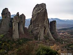 Not All Who Wander Are Lost: Meteora, Greece Pictures Of Rocks, Rocky Creek, Grand Canyon Arizona, Exotic Places, Beautiful Places To Visit, Geology, Wander, Mount Rushmore, To Go