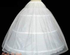 White bridal 3-hoops crinoline - 2 laers - white petticoat skirt Vestidos  De Baile 5a55cb0b0240
