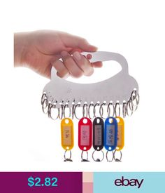 Candle Holders & Accessories Key Holder Rack Organizer Storage Hanger W/28 Key Rings For Dorm Supervisor #ebay #Home & Garden