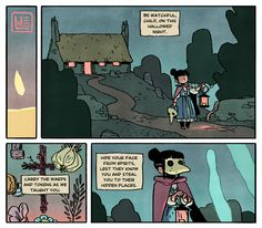Here are some remains of a Halloween comic that died on me.  The ghost of my comic.  May these add a little spookiness to your day. If you want to add a LOT of spookiness to your day: -Emily Carroll makes the spookiest comics. -She just posted a new and brilliant story. -You can also play this creepy text game. Happy Halloween!  Mind the spectral dead.  Remember: rowan to guard, rosemary to ward, iron to bind, garlic to cleanse, silver to kill, and gold to bribe.  Never let them see your ...