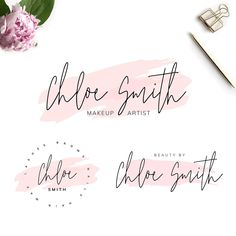 Create your logo design online for your business or project. Its Free to use. Customize a logo for your company easily with our free online logo maker. Branding Template, Stationery Templates, Logo Templates, Three Logo, Beauty Salon Logo, Watercolor Logo, Logos, Signage, Logo Design