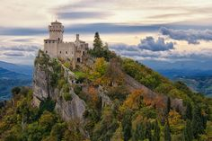 San Marino, Italy - cannot imagine what the view would be from inside there!