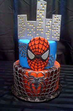I bet my boys would LOVE this cake! Man Birthday, Boy Birthday Parties, Birthday Ideas, Superhero Cake, Cake Spiderman, Baking Party, Dessert Decoration, Cake Boss, Cakes For Boys